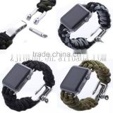 parachute cord outdoor sports camping activity paracord watch band strap for apple watch