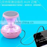 2015 Colorful Flash Light Bluetooth Music Speaker with AUX ,TF Card FM Radio ,Recording Phone Call Bluetooth Speakers