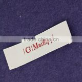 Customized Garment Super Big Size Labels/Woven Labels/Clothing Label/Woven Patch End fold