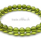 8mm nice natural top quality gemstone peridot bracelet