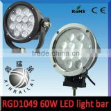 led light bar cover 9-32v , 60w 4200lm led ip68 floodlight RGD1049 bulldozer led work light ,off road lights trucks