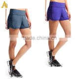 Ladies Fitness Wear Gym Trousers Shorts For Women Gym Wear 100% Polyester Lycra Ladies Fitness