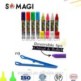 Fashion Stationery Highlighter Pen Marker Fluorescent Chalk Marker Pens for Led Writing Board 10mm Decoration