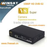 2015 Tiger satellite receiver DVB-S/S2 V8 Super 1080p hd tv channel decoder support cccam cline iptv powervu usb wifi