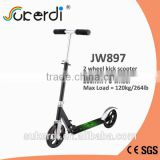100% aluminum folding adult scooter, two 200mm large wheel kick scooter