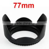 Flower Plastic 77mm Lens Hood Supplier