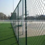 Black Vinyl coated chain link wire fencing and gate/Diamond mesh fence/galvanized chain link fence use in infrastructure