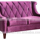 Custom made sofa furniture soft velvet fabric upholstery wooden frame loveseat couch