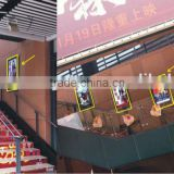 110inch indoor/outdoor advertising player, bus advertising display with free software server
