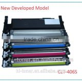High quality clt-406s toner cartridge for samsung color printer CLP-360/365/368 CLX-3300/3305/3306/3186/3185