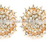 2014 new style earrings flower earrings with diamond