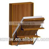 Modern Style Wooden Wall Murphy Bed Mechanism Hardware kits with Bookshelf and Desk