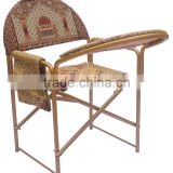 Folding & Knocked Down Muslim Prayer Chair for Elder - with Prayer Pad & Koran Pocket