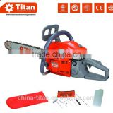 gasoline chain saw 45cc, petrol chain saw, 2 stroke, air-cooled, 3 teeth blade, nylon spool, CE,MD certificate