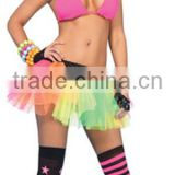 Adult cheap sexy raiboow neon ballet dance tutu dress skirt