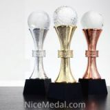 Crystal Trophy Awards for Football,basket ball, golf sports