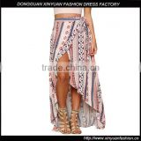 Wholesale Women Long Ethnic Asymmetrical Printed Maxi Skirt Ladies Wrap Beach Boho Skirts
