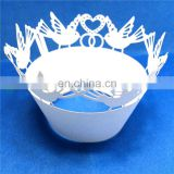 love bird design Laser Cut cupcake wrappers birthday wedding party cake decoration favors supplies