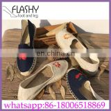 Wholesale fashion customized logo canvas shoes line-soled for sale