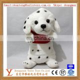 Best sale cute super plush stuffed toy spotted puppy lovely design for kids meet EN71&ASTM&3C ect standards