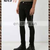 Black elastic cotton super skinny jeans the size of this commodity is small half tight pants