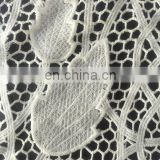 milky yarn cutting chiffon fabric chemical lace fabric