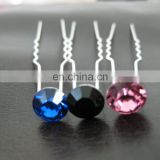 Factory wholesale silver single diamond hair pin