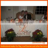 customized standard wedding table cover