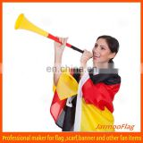 football trumpet with Germany national flag