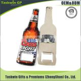 beer shape high quality fridge magnet bottle opener/addingh epoxy coat plate wine bottle opener