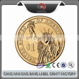 Hot Sale Promotion Cheap High Finished Custom 3D USA Souvenir One Dollor Replica Fake Gold Coin