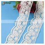 cheap wholesale white embroidery cotton polyester soluble lace for wedding dresses