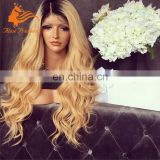 Ombre Blonde Full Lace Wig With Baby Hair For White Women Virgin Malaysian Human Hair Wig With Perfect Hair Dye Wig