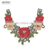 Guangzhou neckline collar;fancy lace neckline;mandarin collar pattern for ladies garment