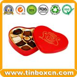 Heart Chocolate Tin Box For Valentine Gifts
