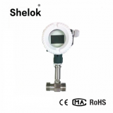 DN15 mechanical mini chilled water liquid caustic turbine flow meter