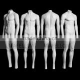 GH13S Ghost Mannequin Magic Removable Fashion Full Body Window Display Male Model Glossy White Fiberglass Dummy Model