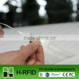 uhf rfid jewelry tag support ISO18000-6C with adhesive paper material,can provide printing serial number,logo