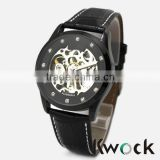 Skeleton Automatic Watch Men Automatic Mechanical Skeleton Retro Leather Dress Sport Military Wrist Watch