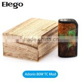 Amazing Stabilized Wood Mod Arctic Dolphin Adonis 80W TC Mod, Rare Stabilized Wood Mod