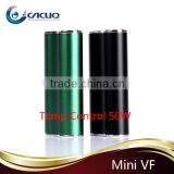 Newest E Cigarette Mod Vaporflask Mini VF 50W TC Box Mod Temperature Control VF Mini 50Watt