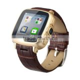 Built in 5MP camera and leather band Android Watch Phone