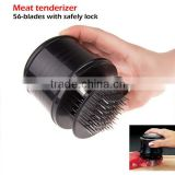 Factory price 56 Blades Meat Steak Tenderizer Stainless Steel Knives Kitchen Tools camping with free cleaning brush