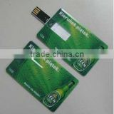 Best seller / Swivel plastic Credit card shape USB flash drive / CE Rohs FCC approved / 2G 4G 8G 16G 32G / Original chip