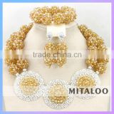 Mitaloo MT0002 2015 Wholesale Graceful Well Design African Necklace Earing Sets Jewelry Set