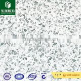 Artificial stone white color material flower patterm artificial quartz stone for promotion