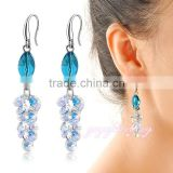 Summer style fish shaped saudi gold jewelry crystal women earrings