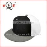 custom 100% cotton plain black and white snapback hats and caps wholesale alibaba in china
