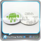Promotion ! 13.56Mhz HF RFID Tags round pvc rfid label