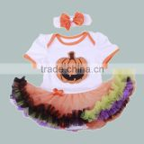pumpkin baby girl romper pettiskirt halloween baby one piece hallowmas newborn clothing sets manufacturer